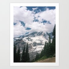 Mount Rainier from the Trails Art Print