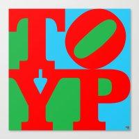 typo Canvas Prints featuring TYPO by cû3ik designs