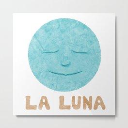 Paper Blue Moon Metal Print