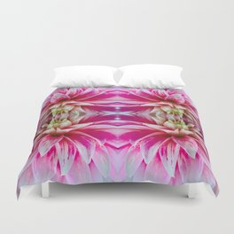 143 - Abstract flowers Duvet Cover