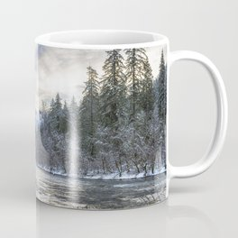 Morning on the McKenzie River Between Snowfalls Coffee Mug