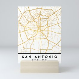 SAN ANTONIO TEXAS CITY STREET MAP ART Mini Art Print