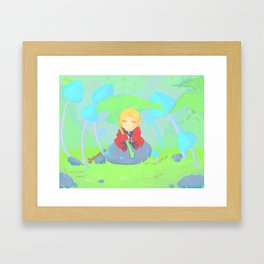 umbrella leaf Framed Art Print
