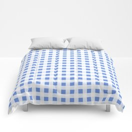 Gingham Pattern in palace blue Comforters