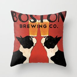 Boston Terrier Brewing Company Throw Pillow