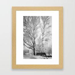 Pt. Iroquois Winter Framed Art Print