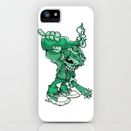 Anarchy Skeleton - Mountain Meadow iPhone Case