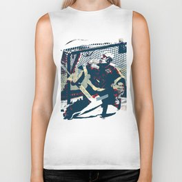 Goalie - Ice Hockey Player Biker Tank