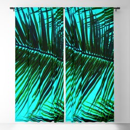 TROPICAL PALM LEAVES Blackout Curtain