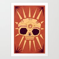 sugar skull Art Prints featuring sugar skull by Yetiland