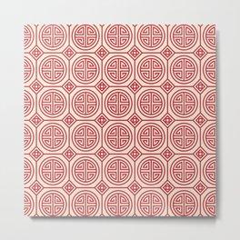 Traditional Chinese Pattern Metal Print