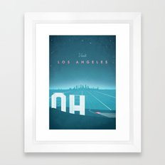 Vintage Los Angeles Travel Poster Framed Art Print