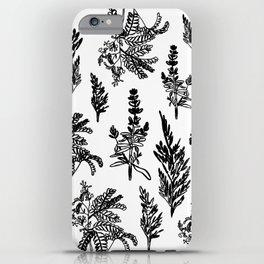fleur noir iPhone Case