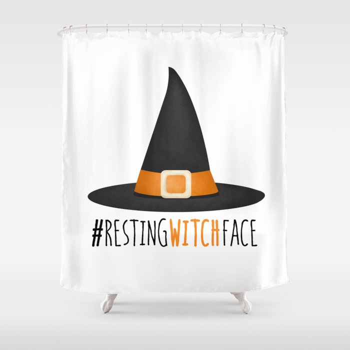 #RestingWitchFace Shower Curtain