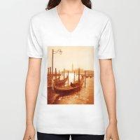 venice V-neck T-shirts featuring Venice by coffeepainter karen eland