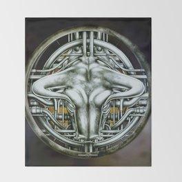 """Astrological Mechanism - Taurus"" Throw Blanket"