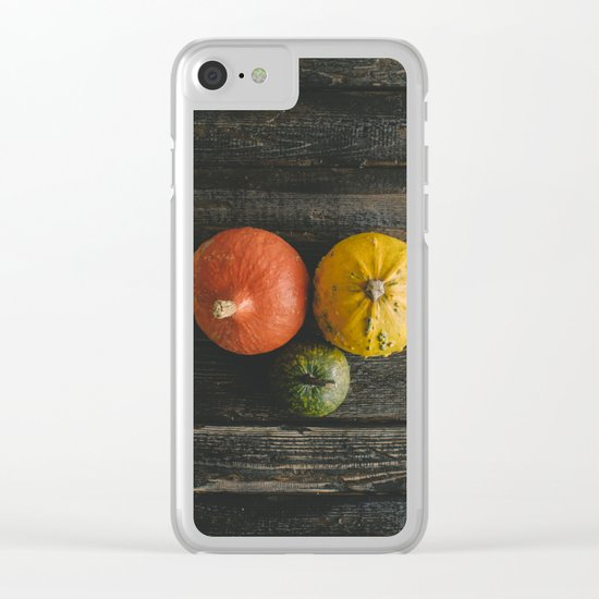 Halloween autumn fall Clear iPhone Case