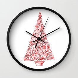 Christmas tree in New Zealand Wall Clock