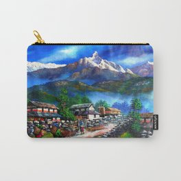Panoramic View Of Everest Mountain Carry-All Pouch