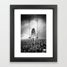 Girl Looking from Above Framed Art Print