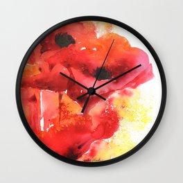 Poppy Love Wall Clock