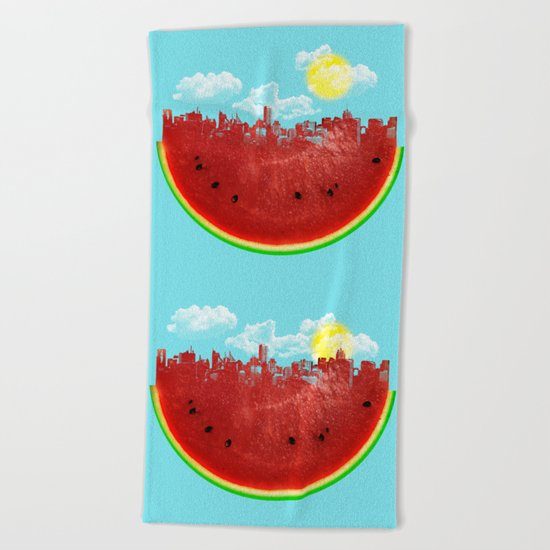 Watermelon City Beach Towel