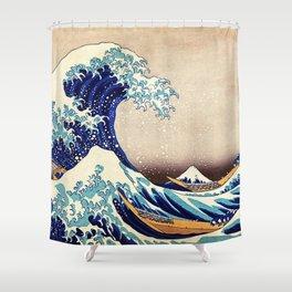 Katsushika Hokusai The Great Wave Off Kanagawa Shower Curtain