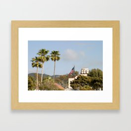 Palm Tree Flag Framed Art Print
