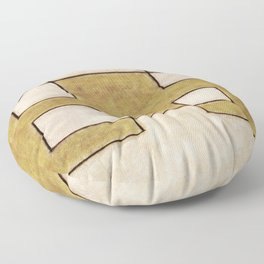 Protoglifo 06 'Mustard traverse cream' Floor Pillow