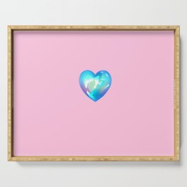 Crystal Heart Solo Version - Pink BG Serving Tray