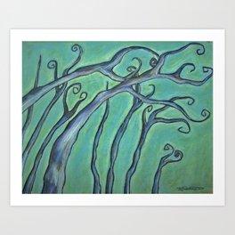 Lake Maria Treefecta Art Print