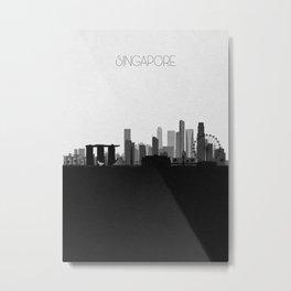 City Skylines: Singapore Metal Print