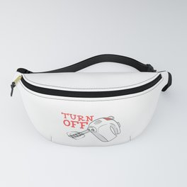 Pie Dinner Food Funny Gag Thanksgiving Day Dessert Funny Turn Off Before Licking T-shirt Design Fanny Pack