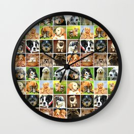 Puppy Dogs Wall Clock