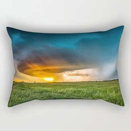 Invasion - Colorful Storm Invading Central Oklahoma Plains Rectangular Pillow