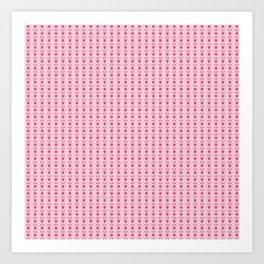 Tiny pink tulip pattern Art Print