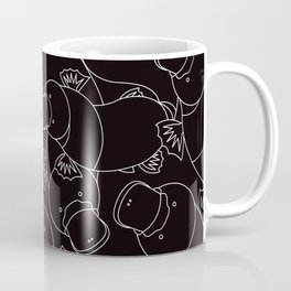 Minimalist Platypus Black and White Coffee Mug