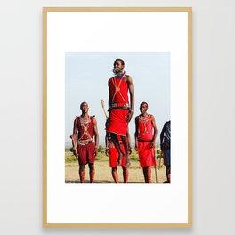 Warrior Dance in Nairobi, Kenya Framed Art Print