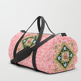 Pink Pansy Cottage Duffle Bag