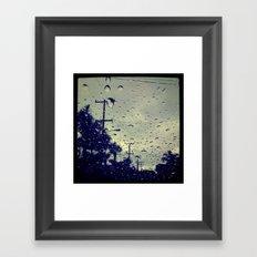 rainy day. Framed Art Print