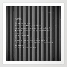 blackframe/18 seconds Art Print