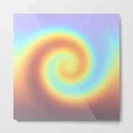 Rainbow twirl Metal Print
