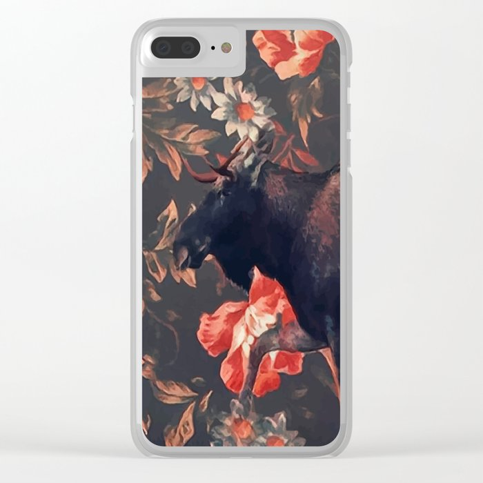Frolal moose Clear iPhone Case