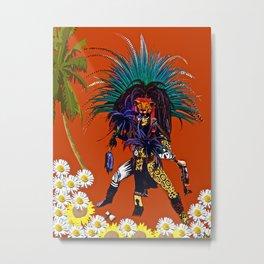Men: The Mayan Warrior Prince Metal Print