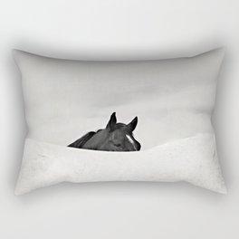 Horse Horizon Rectangular Pillow