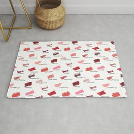 Lipstick colors Rug