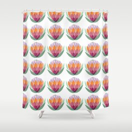 South African King Protea flower Shower Curtain