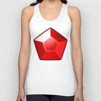 ruby Tank Tops featuring ruby by tsynali