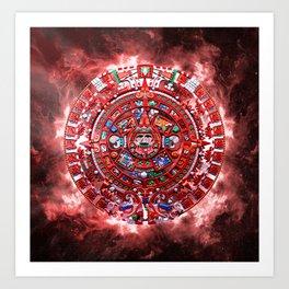 Aztec Calender Art Print
