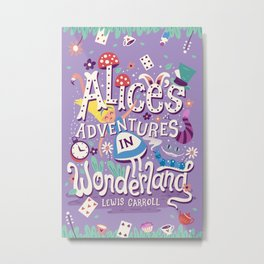 Alice's Adventures in Wonderland - Lewis Carroll Metal Print